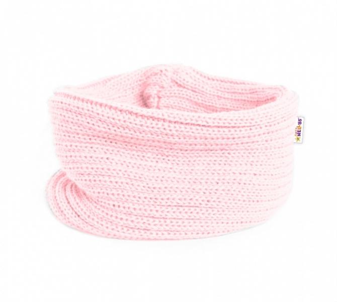 Pletený nákrčník/komínek Baby Nellys ® - sv. růžový