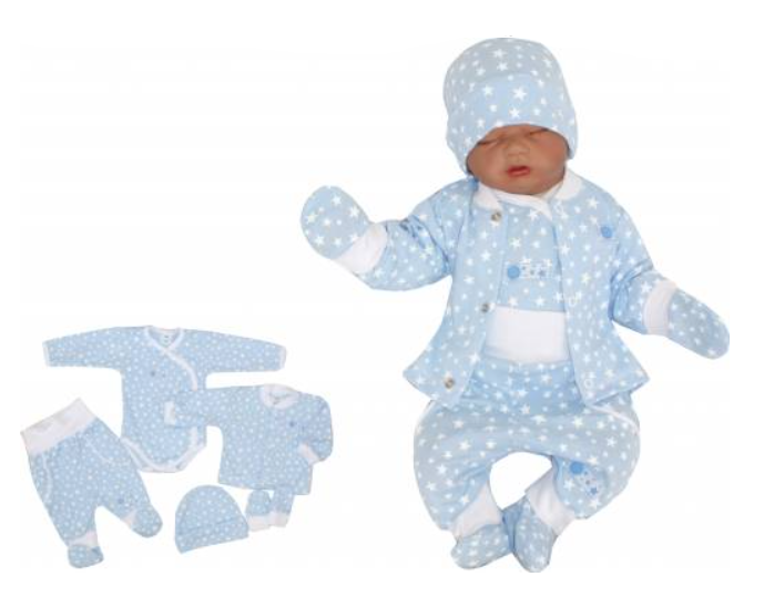 Z&Z 5-dílná soupravička do porodnice Hvězdička, modrá