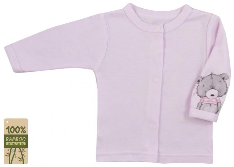 Koala Baby kabátek/košilka bambus Tommy - růžová, vel. 74
