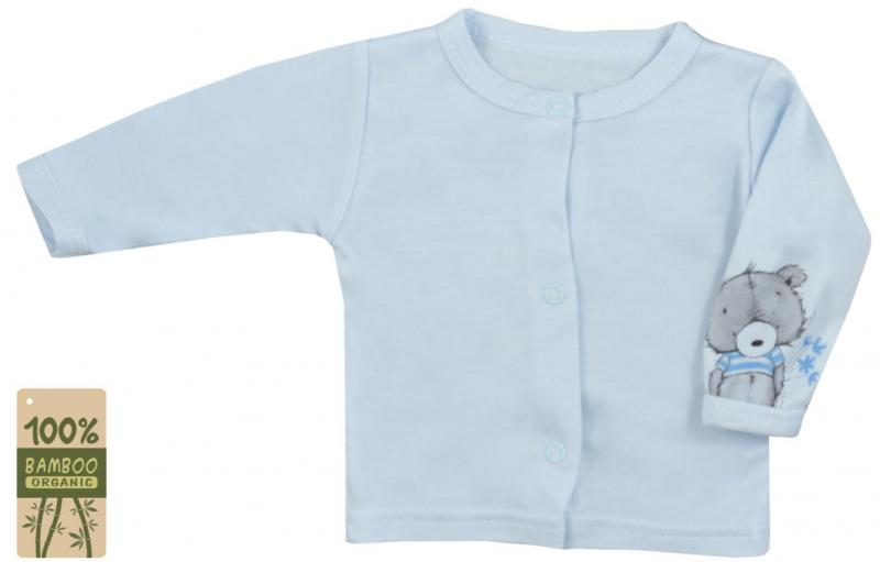 Koala Baby kabátek/košilka bambus Tommy - modrá, vel. 74