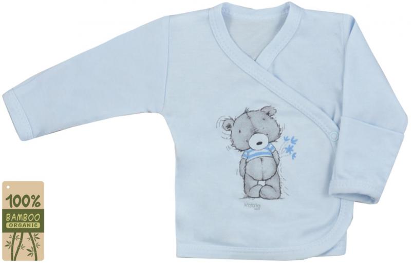 Koala Baby zavinovací košilka bambus Tommy - modrá, vel. 62