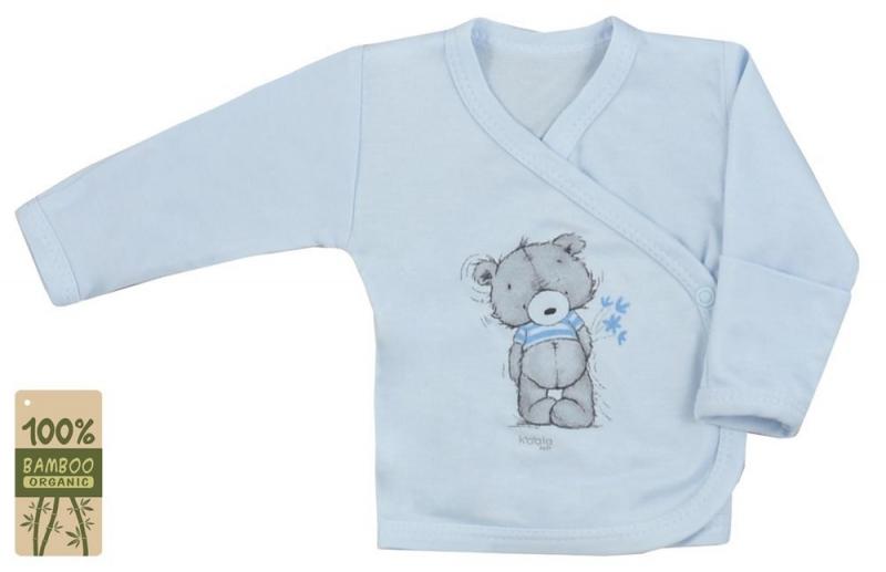 Koala Baby zavinovací košilka bambus Tommy - modrá, vel. 68