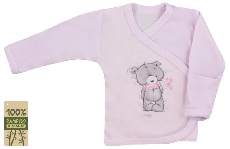 Koala Baby zavinovací košilka bambus Tommy - růžová, vel. 68