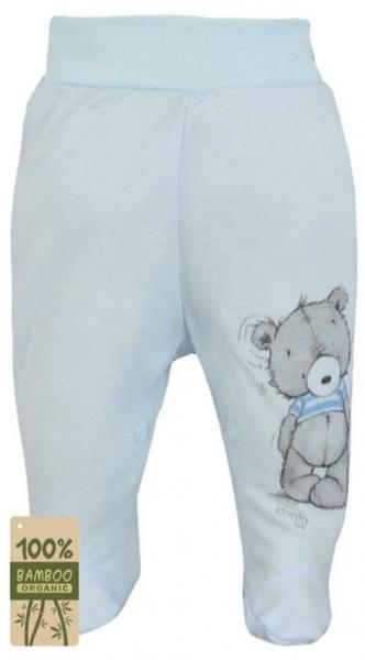 Koala Baby Kojenecké polodupačky bambus Tommy - modrá, vel. 74