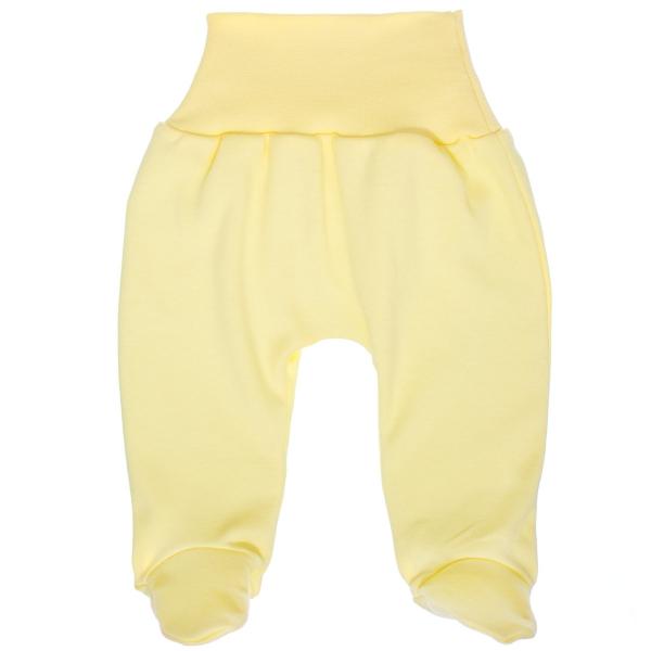 MBaby Bavlněné polodupačky - žluté, vel. 74, Velikost: 74 (6-9m)