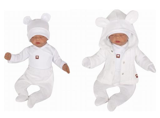 Z&Z 5-dílná kojenecká soupravička pletená do porodnice - bílá, vel. 62