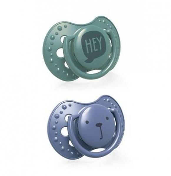 Dudlíky Lovi 3-6m, HEY BOY- zelená, modrá