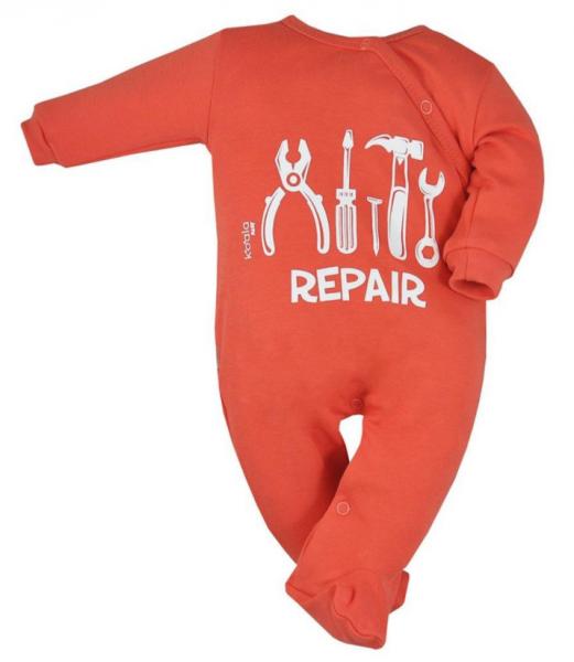 Koala Baby Overálek Repair, zapínání bokem, oranžová, vel. 68