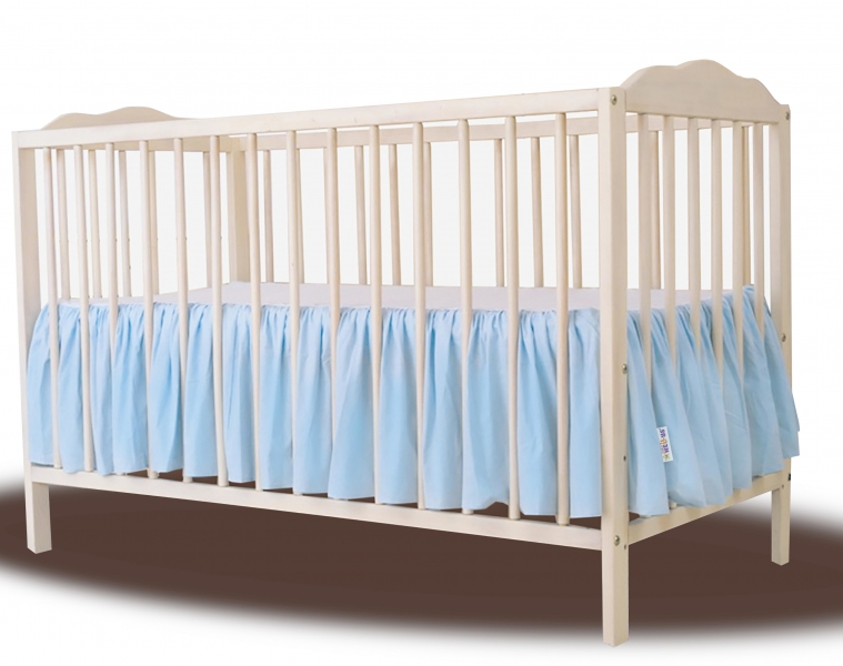 Baby Nellys Bavlněný volánek pod matraci - sv. modrý