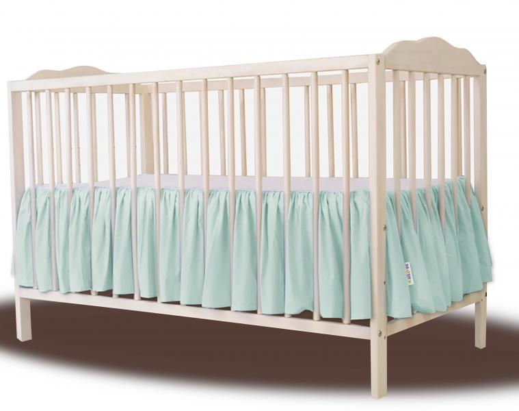 Baby Nellys Bavlněný volánek pod matraci - mátová, 140 x 70 cm