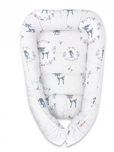 Baby Nellys Bavlněné oboustranné hnízdečko , 55x75cm, Koloušek - tečky, mátová