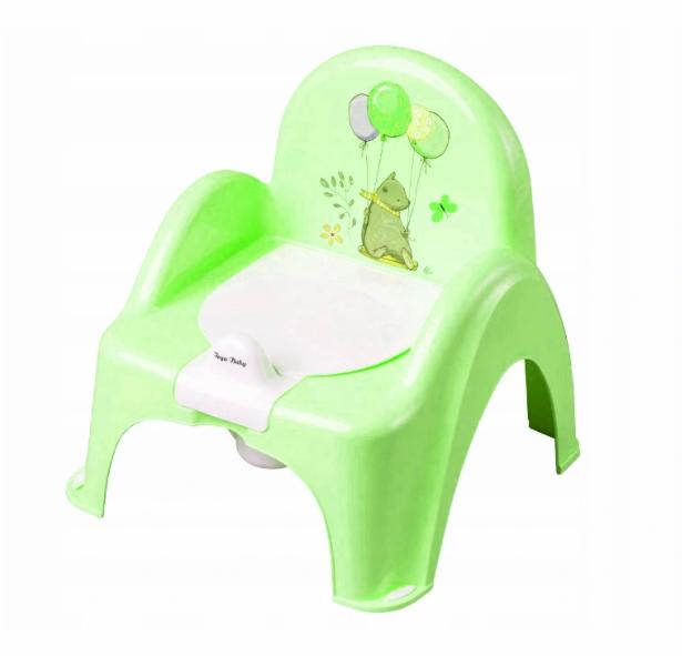 Tega Baby Nočník/židlička Medvídek s melodií - zelená