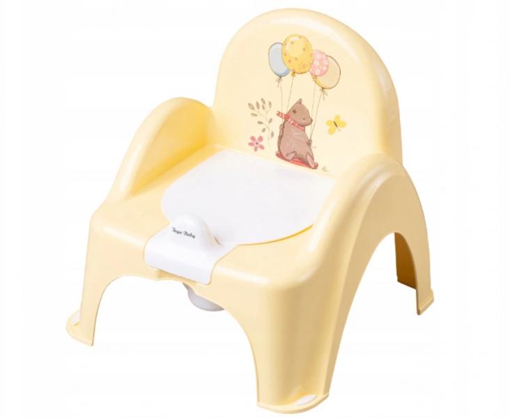 Tega Baby Nočník/židlička Medvídek s melodií - žlutá