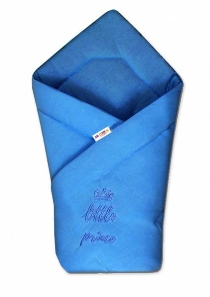 Baby Nellys Rychlozavinovačka Little Prince 78x78  - jersey - tm. modrá