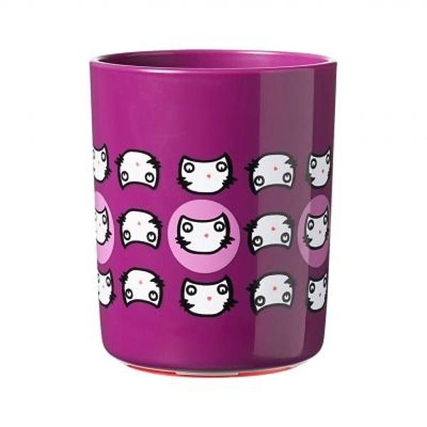 Tommee Tippee Stabilní hrnek Super Cup 190 ml 6m+ Kočička , fialový