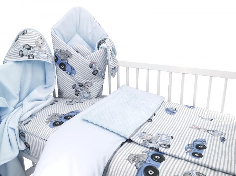Baby Nellys 6-ti dílná výhod. sada s dárkem pro miminko, 135 x 100 - Baby Car, modrá