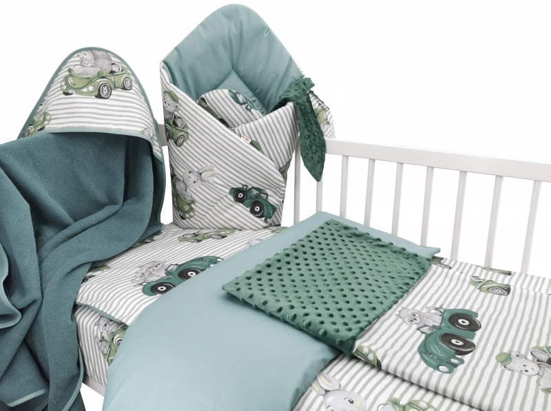 Baby Nellys 6-ti dílná výhod. sada s dárkem pro miminko, 120 x 90 - Baby Car, zelená