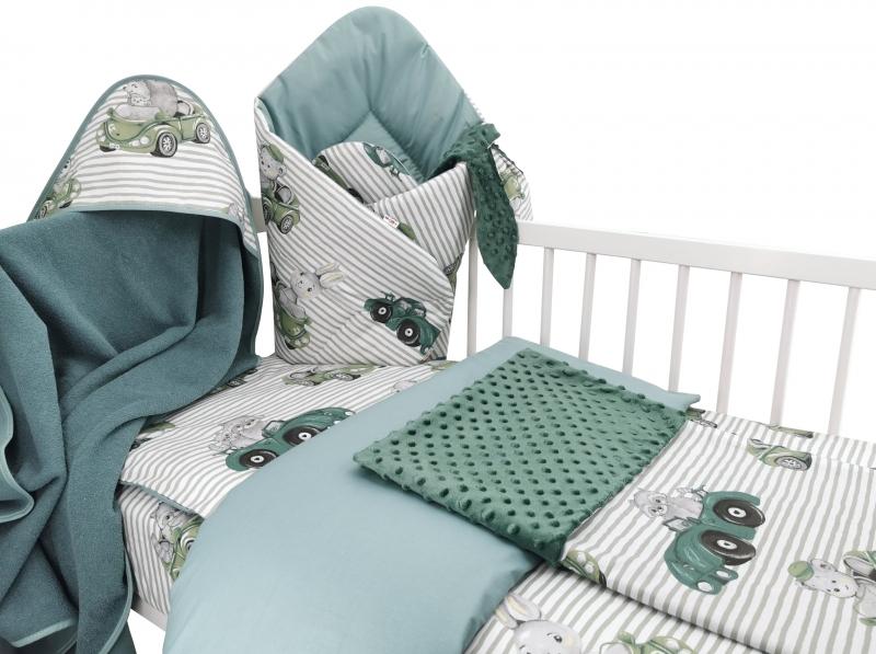 Baby Nellys 6-ti dílná výhod. sada s dárkem pro miminko, 135 x 100- Baby Car, zelená