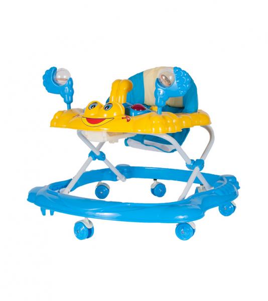 Tulimi Multifunkční chodítko Krab s chrastítem - modro/žluté