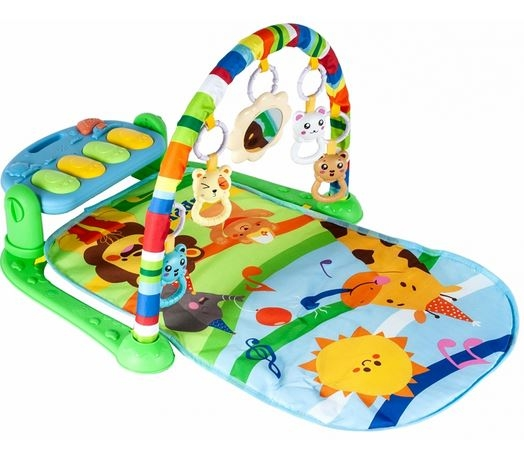 Tulimi Hrající interaktivní podložka s hrazdičkou a chrasítky, Žirafka