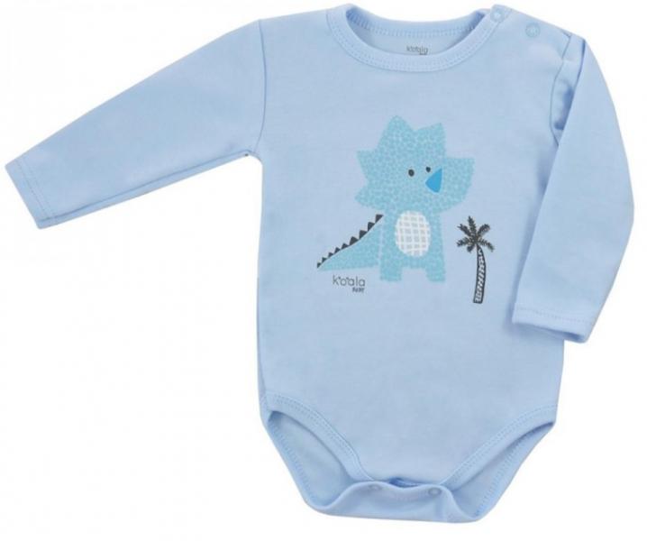 Koala Baby body s dlouhým rukávem Farma - Dráček, modré, vel. 74, Velikost: 74 (6-9m)