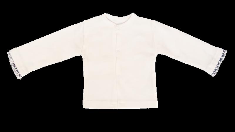 Mamatti Novozenecká bavlněná košilka, kabátek Gepardík - bílá
