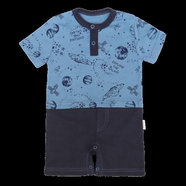 Mamatti Body s nohavičkami Vesmír, modrá -granát, vel. 74