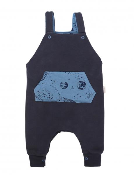 Mamatti Dětské láclové tepláčky Vesmír, granátové, vel. 80