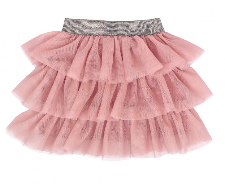 Mamatti Kojenecká tylová sukně, Vlčí Mák - růžová s šedým pasem