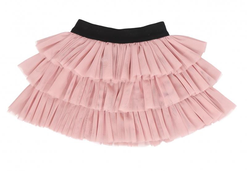 Mamatti Kojenecká tylová sukně, Vlčí Mák - růžová s černým pasem