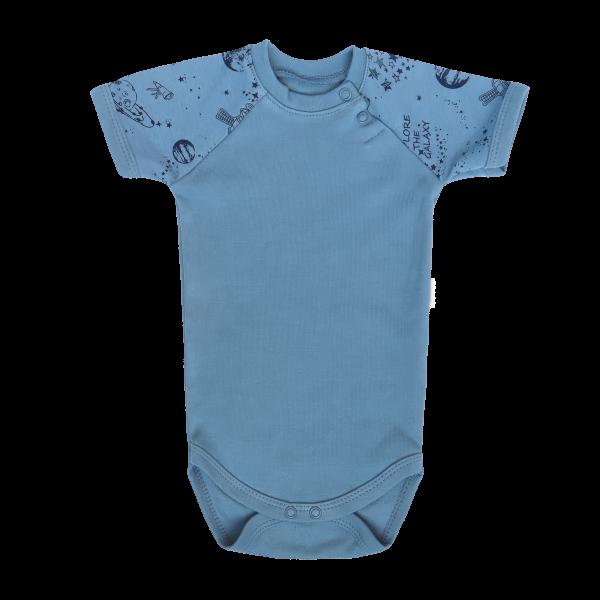 Mamatti Kojenecké body kr. rukáv,Vesmír - modré, vel. 80, Velikost: 80 (9-12m)