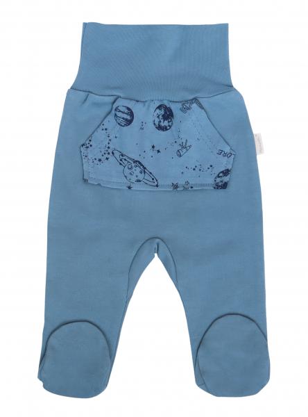 Mamatti Kojenecké polodupačky Vesmír, modré s kapsami, vel. 74, Velikost: 74 (6-9m)