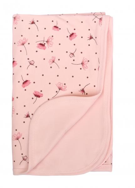 Mamatti Dětská oboust. bavl. deka,  80 x 90 cm, v dárk. krabičce Vlčí Mák - růžová