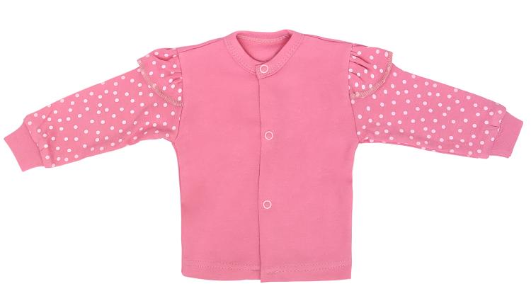 Mamatti Novorozenecká bavlněná košilka, Princezna Puntík - růžová, vel. 56, Velikost: 56 (1-2m)