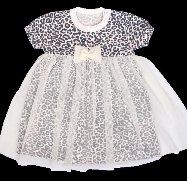 Mamatti Sukničkobody s týlem, krátký rukáv Gepardík - bílé se vzorem, vel. 80, Velikost: 80 (9-12m)