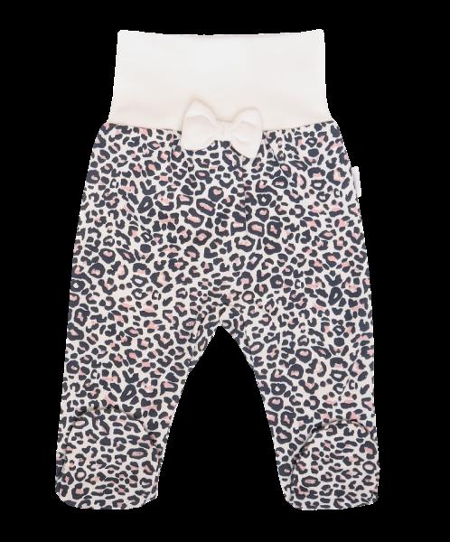 Mamatti Kojenecké polodupačky Gepardík s mašličkou a vzorem - granát, Velikost: 50 (0-1m)