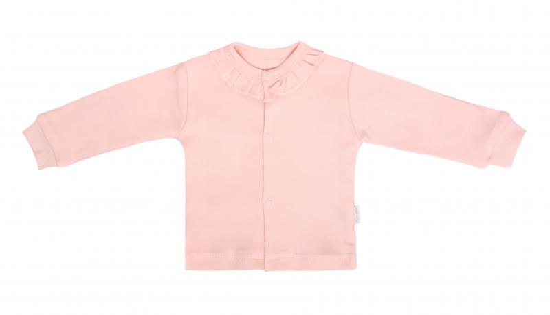 Mamatti Novozenecká bavlněná košilka, kabátek, Vlčí Mák - růžová, vel. 68, Velikost: 68 (4-6m)
