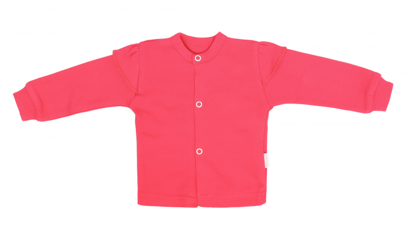 Mamatti Novozenecká bavlněná košilka, kabátek, Myška - tm. růžová