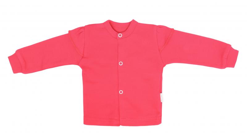 Mamatti Novozenecká bavlněná košilka, kabátek, Myška - tm. růžová, vel. 68