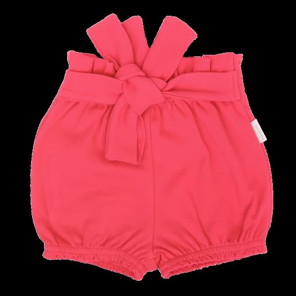 Mamatti Dětské bavlněné kraťásky s ozdobným páskem, Myška - tm. růžová, vel. 98