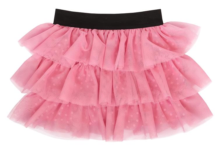 Mamatti Kojenecká tylová sukně, Princezna Puntík - růžová s černým pasem, vel. 86/92/98