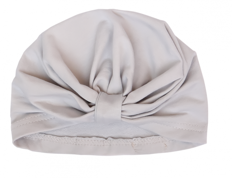 Mamatti Bavlněná  dětská čepice, turban, Myška - bílá