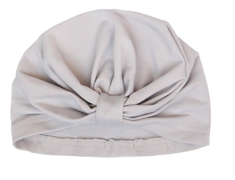 Mamatti Bavlněná  dětská čepice, turban, Myška - bílá, vel. 2 - 3 roky
