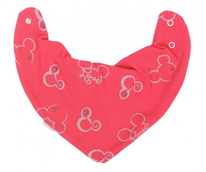 Mamatti Dětský šátek na krk Myška - tm. růžová, Velikost: univerzální