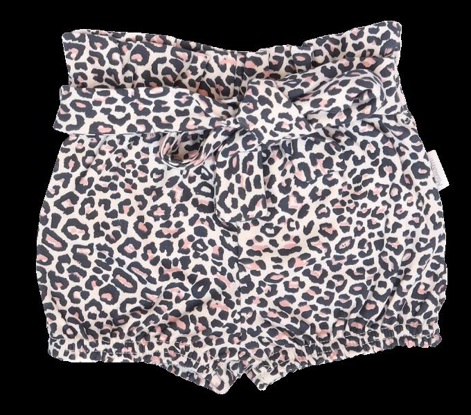 Mamatti Bavlněné kraťásky s ozdobným páskem, Gepardík, vzorované, vel. 98