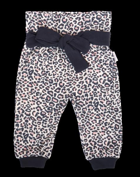 Mamatti Dětské tepláčky s ozdobným páskem, Gepardík, se vzorem, vel. 86