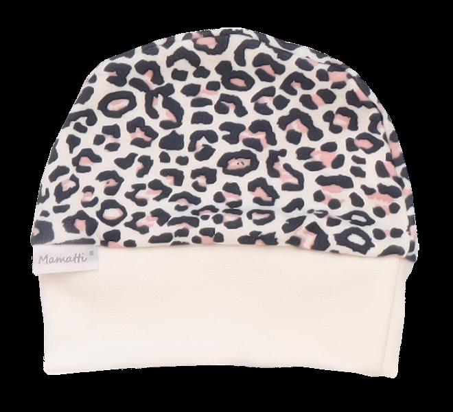 Mamatti Kojenecká čepička Gepardík, bílá se vzorem, Velikost: 56 (1-2m)