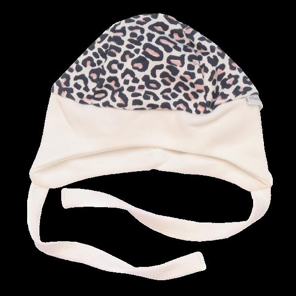 Mamatti Čepička na zavazování Gepardík, bílá se vzorem, vel. 68, Velikost: 68 (4-6m)