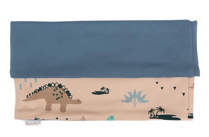 Mamatti Nákrčník/komínek Dinosaurus - krémová s potiskem
