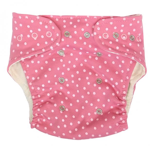 Mamatti Látková plenka EKO sada - kalhotky + 2 x plenka, Princezna Puntík, růžová